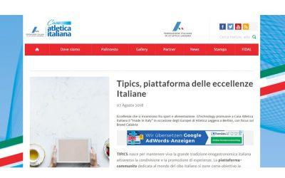 Tipics, piattaforma delle eccellenze Italiane