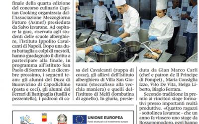 Tipics a Sorrento con i finalisti di Capitan Cooking